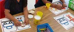 Kidscanlearnschool:  My students love this Play dough activity!Spanis...