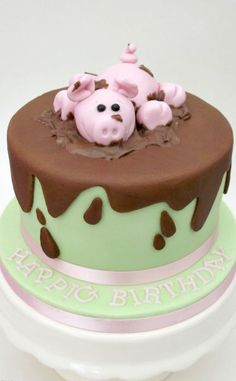 Hap-pig Birthday Cake