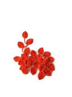 Crochet Leaf Scarf