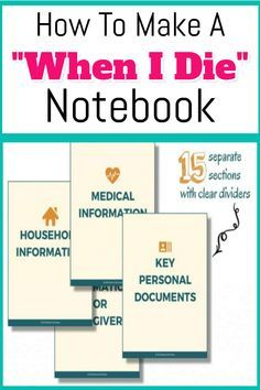How To Organize Important Documents in an Emergency Binder or Household Notebook. How To Organize Important Documents in an Emergency Binder or Household Notebook - Decluttering Your Life The Plan, How To Plan, Family Emergency Binder, In Case Of Emergency, Memo Boards, Documents Importants, When Someone Dies, Household Notebook, Household Binder