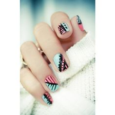 love these nails ❤ liked on Polyvore