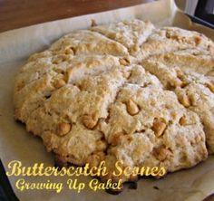 Butterscotch Scones from growingupgabel.com @thegabels #recipe