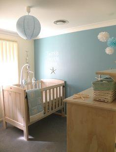 Gorgeous beachy nursery