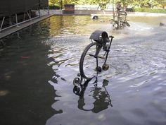The mechanical art fountain, very cool Basel, Switzerland