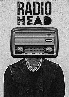 Radiohead grunge vintage poster