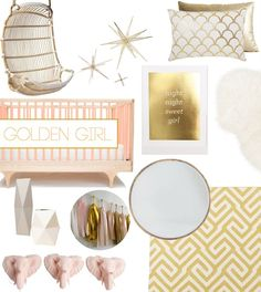 Pink & gold for a girl's nursery!