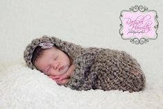 Photo Prop  Newborn Baby Peanut Cocoon  Handmade by ArtsandAccents, $28.00