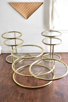 Your place to buy and sell all things handmade Large Coffee Tables, Large Table, Milo Baughman, Hollywood Regency, Vintage Wear, End Tables, Mid-century Modern, Plating, Modern Interiors