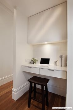 37 Trendy home office ideas modern study nook Alcove Desk, Desk Nook, Alcove Ideas Bedroom, Bedroom Decor, Cool Office Space, Office Nook, Ikea Office, Office Spaces, Work Spaces