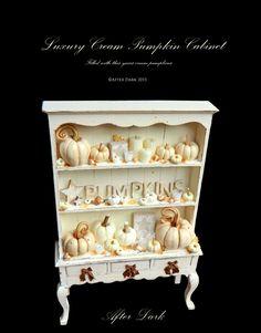 :: Crafty :: Clay ☾☾ Halloween ☾☾ pumpkin cabinet