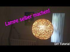 LAMPE / LAMPENSCHIRM SELBER MACHEN | Basteln für Anfänger | DIY Tutorial | - YouTube