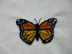 17 butterfly punchneedle