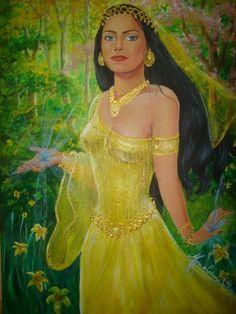 A VOZ DA SELVA AMAZÔNICA: AS DUAS CIGANAS IX Elas então se aproximaram da mesa de pedra branca que ficava no meio do Coreto Sagrado flutuando acima do chão, tão suavemente que pareciam está dançando. Quando seus vestidos tocaram na mesa, elas pararam e a mulher vestida de amarelo com estampas laranjadas disse:
