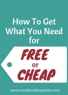 Learn how to get what you need for free or cheap and youll be on your way to making the most of your hard-earned cash! Ways To Save Money, Money Tips, Money Saving Tips, Frugal Living Tips, Frugal Tips, Budget Envelopes, Extreme Couponing, How To Get, How To Plan