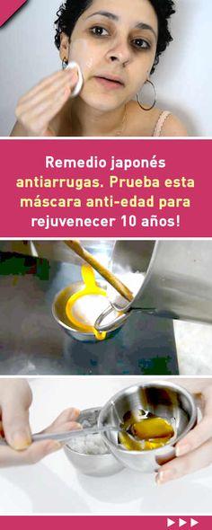 #remedio #japonés #antiarrugas. Prueba esta máscara #anti-edad para #rejuvenecer 10 años! #rejuvenecimiento #facial #rostro #piel #cutis