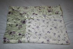 Gymboree Cherry Blossom Baby Blanket Quilt Purple Flowers Green Satin Bow 2003 #Gymboree Green Satin, Satin Bows, Baby Blankets, Gymboree, Purple Flowers, Cherry Blossom, Quilts, Color, Baby Afghans