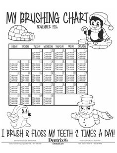 Use this brushing and flossing chart to track daily
