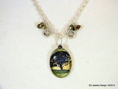 Tree Picture Pendant Necklace with Landscape by SDJewelryDesign16, $30.00
