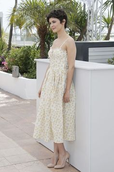 audrey tautou street style | Floral outfits: Audrey Tautou, en Cannes