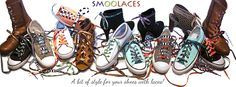 Smoolaces - a bit of style for your shoes with laces!