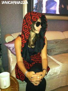 IAC hoodie spotted in the Fashion Week Mercedes Benz VIP Lounge. @Sonni Gianna