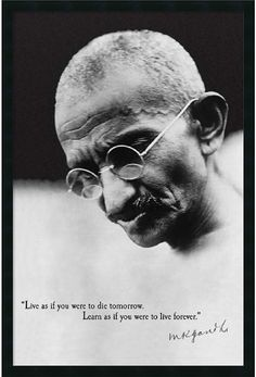 """0-008898>25x37"""" Gandhi Live Forever Framed Print"""