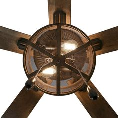 Abbigail Woodgrain Caged Farmhouse 5 Blade Ceiling Fan with Remote, Light Kit Included Caged Ceiling Fan, Ceiling Fan Vaulted Ceiling, Flush Mount Ceiling Fan, Home Depot, Living Room Fans, Ceiling Fan Direction, Ceiling Fan Makeover, White Light Bulbs, Fan Light Kits