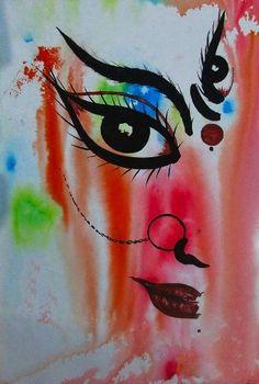 Lord Shiva Painting, Ganesha Painting, Shiva Art, Hindu Art, Indian Art Paintings, Durga Maa Paintings, Modern Art Paintings, Mandala Art Lesson, Mandala Drawing