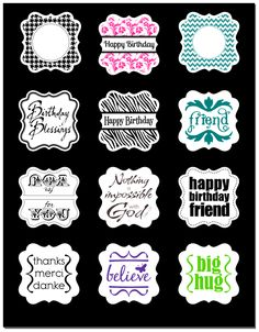 More printables to match ek punches