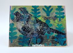 Card using the stencils in my Bird Stamp Set as well as the rubber stamp.