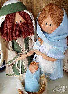 Christmas Time, Vintage Christmas, Xmas, Puppets, Nativity, Projects To Try, Teddy Bear, Crafty, Handmade