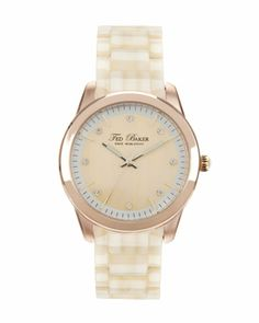 TICARA | Round face watch - Natural | Watches | Ted Baker | Got it!