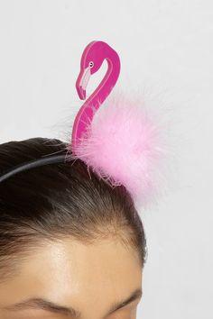 Piers Atkinson|Tropical flamingo headband