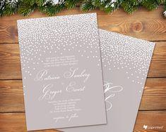 free wedding invitation template, free printable, wedding invitations template, snow wedding invitation
