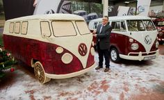 A gingerbread VW bus