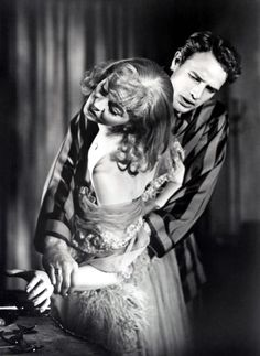"Vivien Leigh and Marlon Brando in ""A Streetcar Named Desire""  (1951)  Vivien Leigh - Best Actress Oscar 1951"