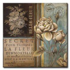POl_193_Belle Fleur I / Cuadro Vintage con Flores