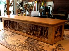 custom woodcarving - carved fireplace mantels - http://www.jerrymifflinwoodcarving.com
