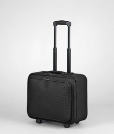 cbc63640c332 Bottega Veneta Nero intrecciato vn trolley - ShopStyle Rolling Luggage