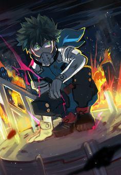Izuku Midoriya - Deku (Boku No Nero Academia) Boku No Hero Academia, My Hero Academia Memes, Hero Academia Characters, My Hero Academia Manga, Anime Characters, Demon Manga, Manga Anime, Anime Guys, Anime Art