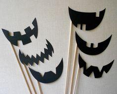 Jack O Lantern Photo Props.  Jack O Lantern Photo Booth Props.  Photo Props.  Set of 6.  Halloween.  Jack-O-Lantern.  Pumpkin.. $6.00, via Etsy.