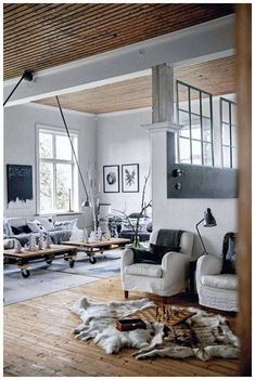 Other Scandinavian living room design ideas might include the balance between an inside and outdoor spaces. Let us show you some Scandinavian living room design ideas for you to get the gist of it and, who knows, find your new living room décor. Living Room Scandinavian, Scandinavian Interior Design, Beautiful Interior Design, Scandinavian Style, Swedish Style, Simple Interior, Swedish Design, Scandinavian Christmas, Interior Ideas