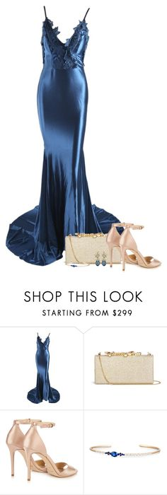 """Dress [001]"" by myxvonwh ❤ liked on Polyvore featuring Jimmy Choo, Rivière and Ciner"