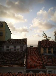 Vista do Mirante das Letras - Casa de Jorge Amado - Salvador/BA Salvador Ba, Clouds, Outdoor, All Saints, Charms, Houses, Lyrics, Outdoors, Outdoor Games