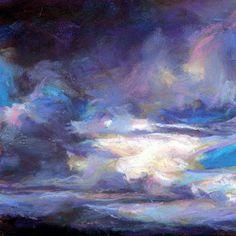 """DARK WAS THE DAY- 4 1/2"""" x 4 1/2"""" pastel, ©Susan E. Roden"""