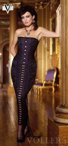Long Corset Dress V1116 Vollers: http://www.korsett-corsage.net/product_info.php/products_id/928/language/en