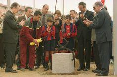 Jordi Alba fue uno de los protagonistas del acto de la primera piedra en Sant Joan Despí
