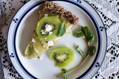 Kiwi, mint & ginger tart