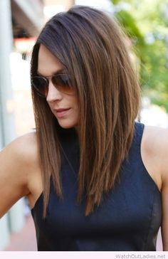 Cool long angled bob More
