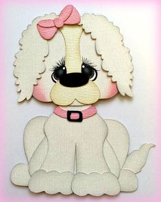 Poodle puppy dog kids best friend premade paper piecing die cut by my tear bears kiraIt has at least 2 layers of 80 lb. The background paper is NOT included. My creations are of great detail and acid free and lignin free. Whelping Puppies, Baby Skunks, Kitten Toys, Girl Posters, Paper Craft Supplies, Animal Cards, Punch Art, Scrapbook Paper Crafts, Paper Piecing